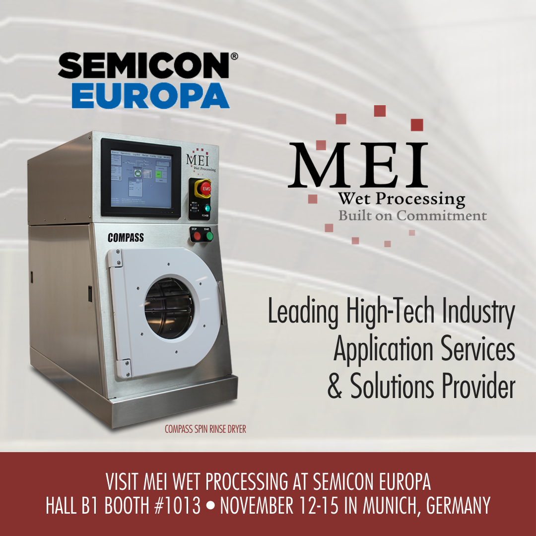 MEI Wet Processing Exhibiting at SEMICON EUROPA 2019