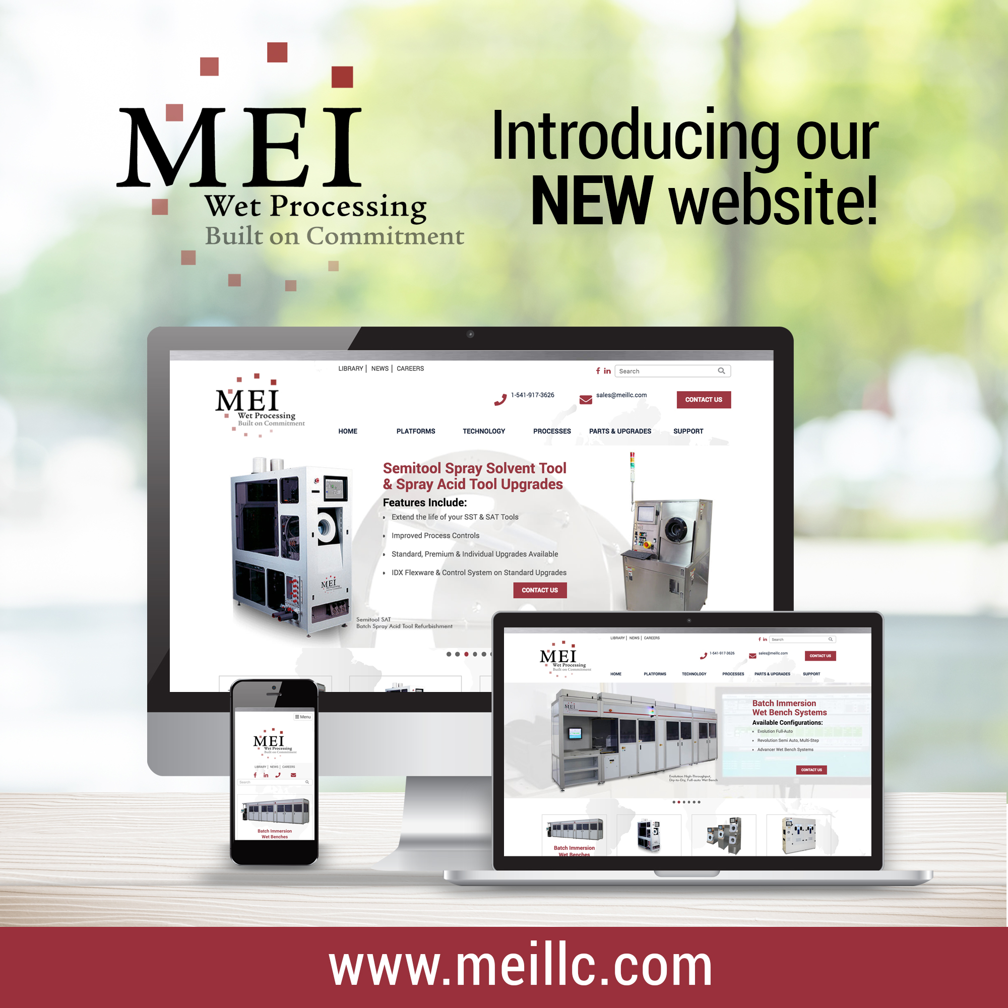 MEI WET PROCESSING ANNOUNCES NEW WEBSITE LAUNCH